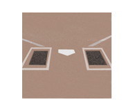 Rubber Batter's Box Foundation Mat