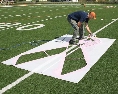 Pink Ribbon Stencil