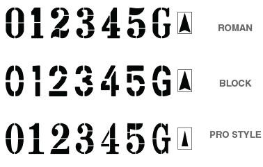 Number Stencil Kit