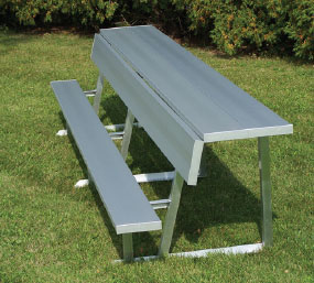DGS Portable Bench with Backrest & Shelf