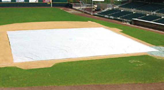 Turf Gro Blanket on Baseball Field