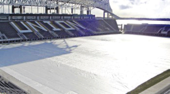 Turf Gro Blanket on Soccer Field