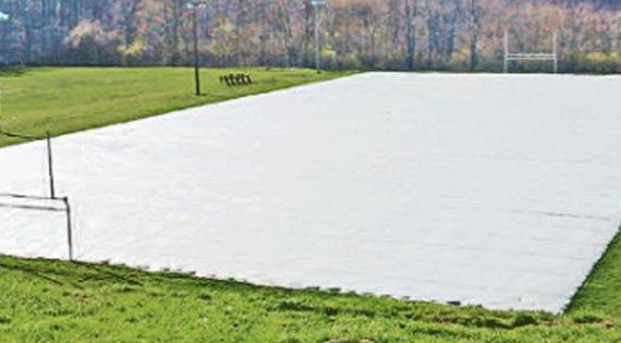 Turf Gro Blanket on Football Field