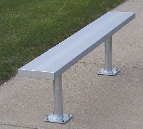 PE Surface Mount Bench without Back