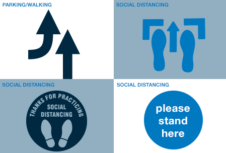 Custom Social Distancing Stencils