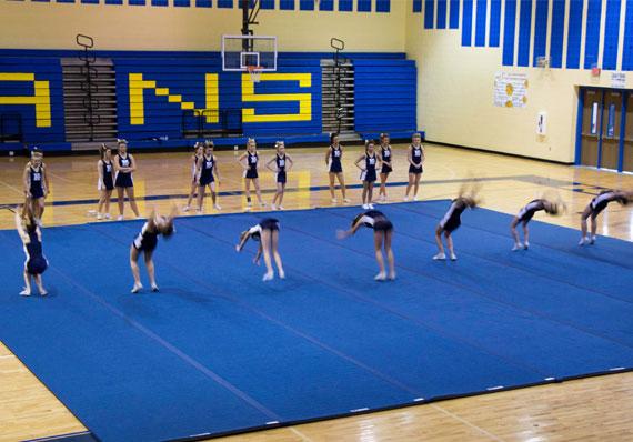 EZ Flex Cheerleading Mat Practice