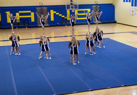 EZ Flex Cheerleading Mat During Practice