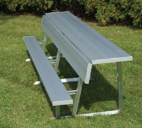 DGS Portable Bench with Backrest & Shelf