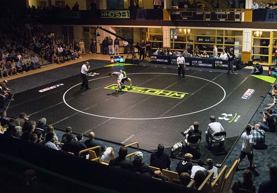 EZ Flex Wrestling Mat During Tournament