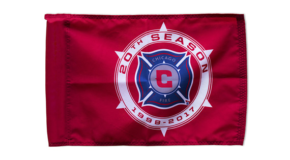 Chicago Fire Custom Corner Flags